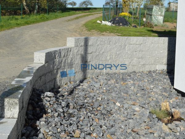 Granit Mauersteine, Granitsteine, Gartensteine 25x25x50 cm Lagerfugen gesägt, Trockenmauer